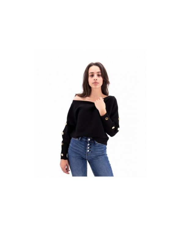 GIACCA MONOPETTO CON ORLO IN PIZZO GUESS JEANS