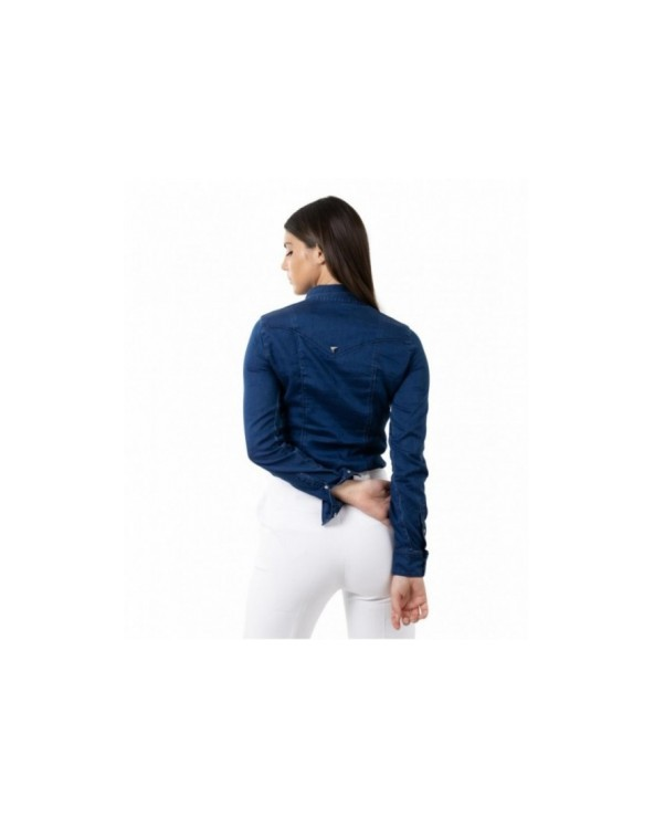 T-SHIRT GIROCOLLO CON STAMPA GUESS JEANS